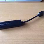MacにLANケーブルを繋ぐためにUSBからLANへの変換アダプターを急遽購入!