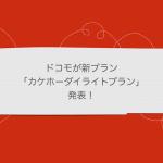 ドコモが新プラン「カケホーダイライトプラン」発表!料金の見直しを!