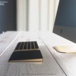 重厚感あふれるゴールドの「iMac」「Magic Keyboard」「Track pad 2」