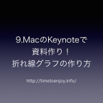 9.MacのKeynoteで資料作り!折れ線グラフの作り方
