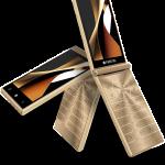 FREETELが2つ折りケータイ型スマホ「MUSASHI」を3月下旬から発売