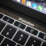 新型「MacBook Pro」のタッチバー部分に装着するボタン型ファンクションキーのイメージ画像