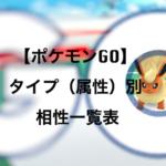 【ポケモンGO】ポケモンのタイプ(属性)別相性一覧表