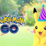 ポケモンの誕生日を記念してとんがり帽子をかぶったピカチュウが出現