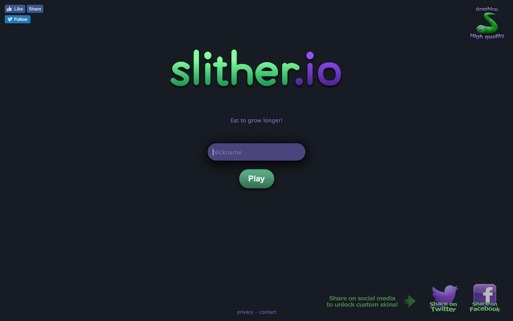 スリザリオ(slither.io)