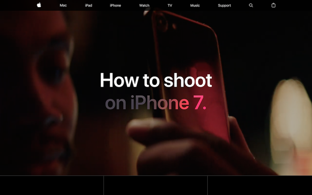 Apple:How to Shoot on iPhone 7