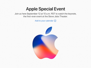 Apple Special Event告知(2017.9)